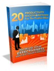 20 Productivity Boosting Methods